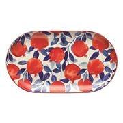 Ecology - Punch Oval Platter Pomegranate Medium 32x2.5x18cm
