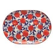 Ecology - Punch Oval Platter Pomegranate Large 40.5cm