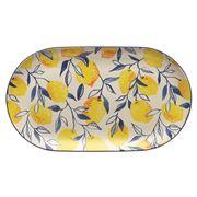 Ecology - Punch Lemon Medium Oval Platter 32cm
