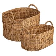 Peter's - Hyacinth Large Oval Basket Set Natural 2pce