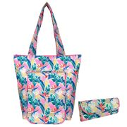 Sachi - Insulated Folding Market Tote Botanical