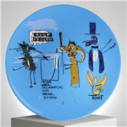 Ligne Blanche - Basquiat 'Keep Frozen' Limoges Plate 21cm