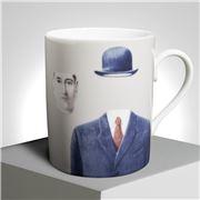 Ligne Blanche - Magritte 'Pelerin' Limoges Mug Beige