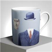 Ligne Blanche - Magritte 'Pelerin' Limoges Mug Blue