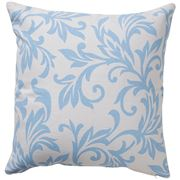 Paloma - Oriental Swirl Cushion Light Blue & Cream 50x50cm