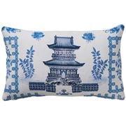 Paloma - Oriental House Cushion Blue & White 50x30cm