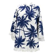 A.Trends - Oval Poncho Towel Palm Navy