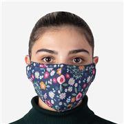 Element Mask - Adult Mask Navy Floral