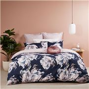 Logan & Mason - Valentine King Quilt Cover Navy Set 3Pce