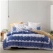 Logan & Mason - Palermo Navy Quilt Cover Set Queen 3pce