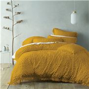 Bianca - Savannah King Quilt Cover Set Mustard