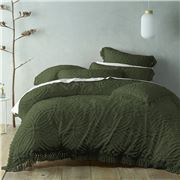 Bianca - Savannah Quilt Cover Set Olive Super King 3pce