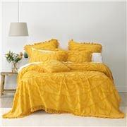 Bianca - Santorini Mustard Bedspread Queen Set 3pce