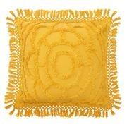Bianca - Square Filled Cushion Santorini Mustard 43x43cm
