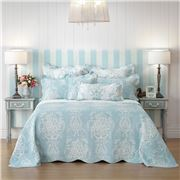 Bianca - Florence Blue Queen Bedspread 3pce