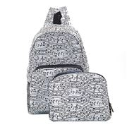 Eco-Chic - Foldable Backpack Music White