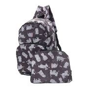 Eco-Chic - Foldable Backpack Black Scatty Scotty
