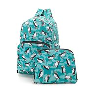 Eco-Chic - Foldable Backpack Teal Puffin
