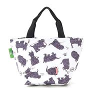 Eco-Chic - Insulated Lunch Bag White Scatty Scotty