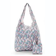 Eco-Chic - Foldaway Shopper White Feathers