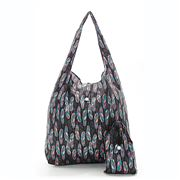 Eco-Chic - Foldaway Shopper Black Feathers