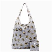 Eco-Chic - Foldaway Shopper Grey Bees