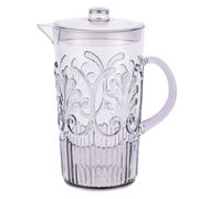 Flair Decor - Acrylic Scollop Des Pitcher Smoke