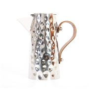 Flair Decor - Bolt Hammered Jug S/Steel & Lthr Handle  2.25L