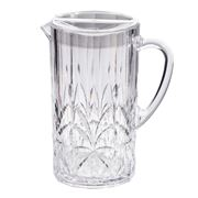 Flair Decor - Acrylic Crystal Cut Pitcher Clear