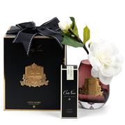 Cote Noire - Tear Drop Gardenia Spray Ruby Glass/Gold Crest