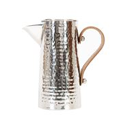 Flair Decor - S/Steel Small Hammered Jug w/Lthr Handle 2.25L