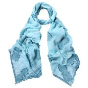 DLUX - Paradise Clipped Jacquard Scarf Turquoise