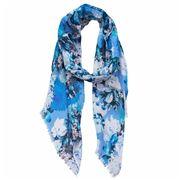 DLUX - Carmen Digi Print Flower Scarf Blue