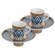 Baci Milano - 5th Avenue Coffee Cup Navy Set 2pce