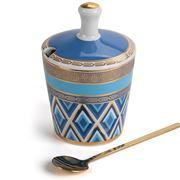Baci Milano - 5th Avenue Navy Sugar Bowl & Spoon Set