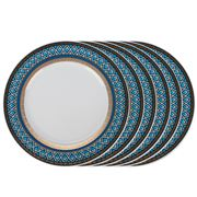Baci Milano - Dessert Plate Navy Set Of 6