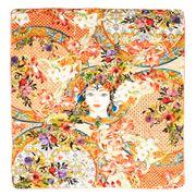 Baci Milano - Cotton Velvet Throw Coral 150x130cm