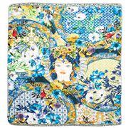 Baci Milano - Cotton Velvet Throw Ocean 150x130cm