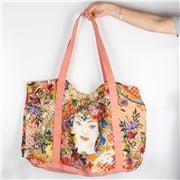 Baci Milano - Linen Shopping Bag Coral
