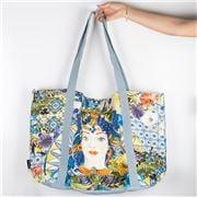 Baci Milano - Linen Shopping Bag Ocean