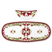 Le Cadeaux - Vischio Bowl & Tray Set 2pce