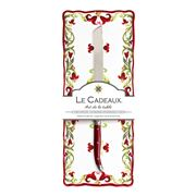 Le Cadeaux - Vischio Baguette Tray w/ Bread Knife Set 2pce