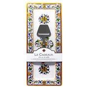Le Cadeaux - Capri Platter w/Cheese Utensil Set 2pce