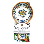 Le Cadeaux - Capri Spoon Rest & Tea Towel Set 2pce