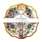 Le Cadeaux - Capri Salad Bowl & Salad Servers Set 3pce