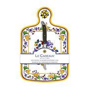 Le Cadeaux - Capri Cheeseboard w/Cheese Knife Set 2pce