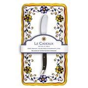 Le Cadeaux - Capri Butter Dish w/Butter Spreader Set 2pce