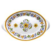 Le Cadeaux - Capri Two Handled Oval Platter 45cm
