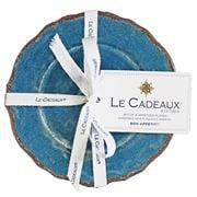 Le Cadeaux - Antiqua Appetizer Plates Blue Set 4pce