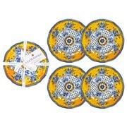 Le Cadeaux - Benidorm Appetizer Plates Set 4pce